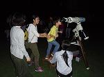 天体望遠鏡で木星をみたよ